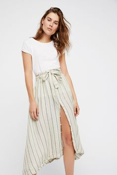Tie Front Midi Skirt |