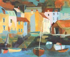 Harbour Boats Silkscreen Print by Richard Tuff