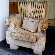 Hermes Birkin 35 in gris-tourterelle Hermes Birkin, Hermes Bags, Outside Furniture, Home Furniture, Wingback Chair, Armchair, Types Of Furniture, Large Bags, Decoration