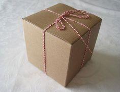 Kraft Boxes, Kraft Tuck Box, Gift Boxes, Kraft Folding Box, Bakery Box, Cupcake Box, Jewerly Gift Boxes 4x4x4 Pack 10