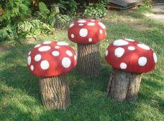 Diy Garden Decor Whimsical Toadstools Youth Gardening