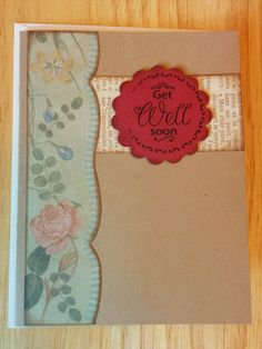Floral Get Well Card by Cindysnoopy on Etsy, $3.50