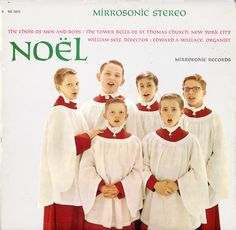 St Thomas Church - Choir of Men and Boys - Tower Bells - Noel - RS1015 vinyl lp Christmas record album transferred to CD - Christmas Vinyl Record LP Albums on CD and MP3