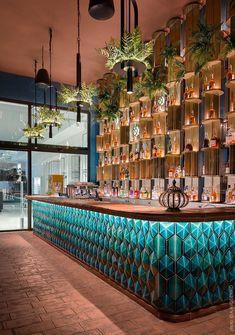 Deco Restaurant, Luxury Restaurant, Modern Restaurant, Bar Interior Design, Restaurant Interior Design, Cafe Design, House Bar Design, Casa Pop, Bar Counter Design