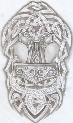 Celtic Design Thor Hammer Tat2 by 2Face-Tattoo.deviantart.com on @deviantART