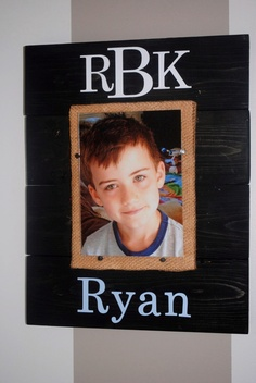 5x7 Personalized Wooden Frame. $30.00, via Etsy.
