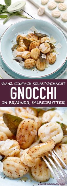 Gnocchi in brown sage butter - simply homemade - Recipes Eat Easy Dinner Recipes, Breakfast Recipes, Sage Butter, Brown Butter, How To Cook Gnocchi, Homemade Butter, Gnocchi Homemade, Recipe For 4, Food Network Recipes