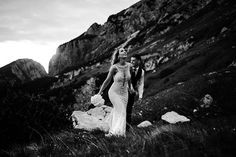 Two roads diverged in a wood and I - I took the one less traveled by. - Robert Frost - Elopement shot on Mangart mountain. Wedding Blog, Wedding Planner, Destination Wedding, Robert Frost, Boho Inspiration, Italy Wedding, Green Wedding Shoes, Take My, Caravan
