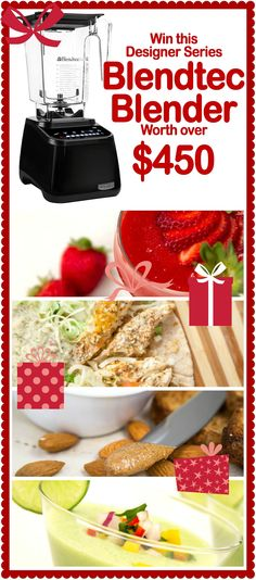 Win a BLENDTEC!!! worth over $450! PLEASE COME ENTER!!! @Blendtec #blender #christmas #giftidea #cooking