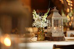 White table arrangements