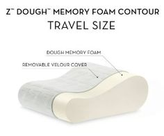 MALOUF Z Travel Size Memory Foam Molded Contour Neck Pillow-Luxurious Rayon from Bamboo Velour Washable Cover Reduce Weight, Ways To Lose Weight, Support Pillows, Natural Curves, How To Make Pillows, Pressure Points, Neck Pillow, Travel Memories, Travel Size Products