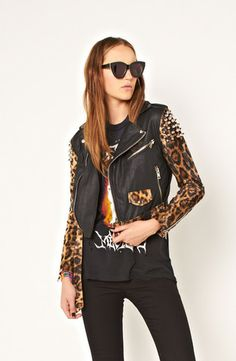 leopard + leather + studs = I need this!