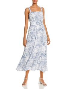 Lucy Paris Belted Toile-Print Midi Dress - Exclusive Back to Results - Women - Bloomingdale's Different Types Of Dresses, Figure Flattering Dresses, Midi Dresses Online, Feminine Style, Pretty Outfits, Fit And Flare, Designer Dresses, Fashion Dresses, Dresses Dresses