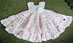 Pineapple Lace Crochet Baby Dress Pattern by SuperMomCrochet