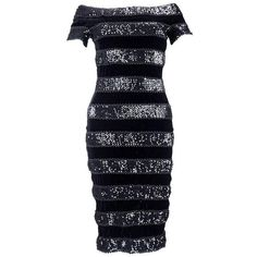 Preowned 80s Jiki Monte Carlo Creations Black Velvet And Sequin... ($895) ❤ liked on Polyvore featuring dresses, black, cocktail dresses, 1980s dress, sheath cocktail dress, sheath dress, velvet cocktail dresses and bodycon cocktail dresses