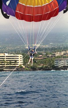 Parasailing in Kona, Hawaii