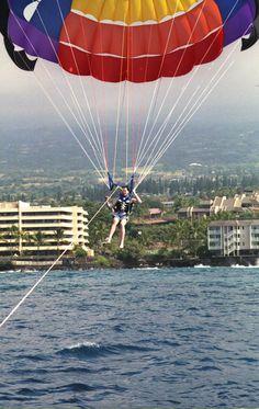 Parasailing in Kona, Hawaii
