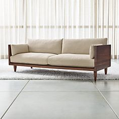 Sherwood Exposed Wood Frame Sofa at Crate and Barrel Canada. Discover unique furniture and decor from across the globe to create a look you love. Wood Frame Couch, Wooden Sofa Set, Wood Sofa, Rustic Couch, Diy Sofa, Sofa Furniture, Pallet Furniture, Furniture Online, Crate And Barrel