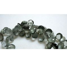 Moss Aquamarine Beads/ Moss Aquamarine Briolette by gemsforjewels, $28.30