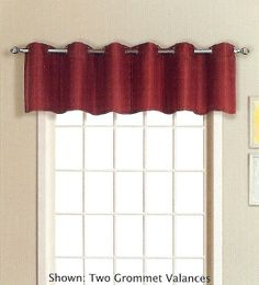 Mansfield Grommet Curtains Are A Casual Addition To Any Window. #Grommet  #Valances
