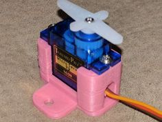 A simple stand/holder for a standard micro servo