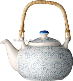 Isabella Teapot - Blue Pattern, from Bloomingville.