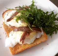 YES - Toast with Poached Egg & Anchovies