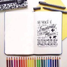 Marina Viabone - Primeiro Rabisco espalha positividade através de frases e handlettering;