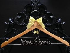 Disney Wedding Hanger / Bride Hanger / Minnie Mouse by GetHungUp