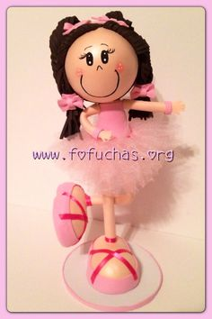 Ballerina 3D foamy Fofucha Doll  on Etsy, $30.00 This is a handmade doll. She is made using foam sheets and skirt made using tulle.  She is about 11inches  weight of the decor is approx 08 oz. I can make custom fofuchas just get in contact with me. Let me know if this isn't the color you would like I can make it for you.. See more at  Ballerina can be used as a Centerpiece, cake topper or eoom decor. like us @ www.facebook.com/fofuchashandmadedolls #fofuchas #ballerina #crafts