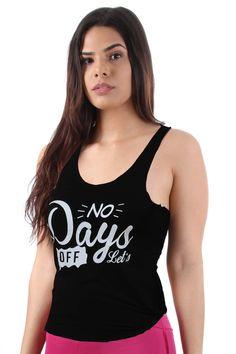 Camiseta fitness silk nó no days - Lindas camisetas de visco. Muito  confortável e estilosa c1252488872