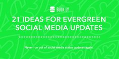 21 Ideas for Evergreen Social Media Content Updates: http://rgn.bz/XyTn  #EvergreenContent #SocialMedia