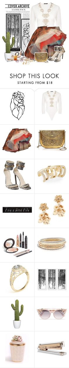 """Animal!"" by elizabetebrazil ❤ liked on Polyvore featuring Boohoo, Vivienne Westwood, From St Xavier, Gucci, Swarovski, Creative Co-op, Oscar de la Renta, Kendra Scott, Jimmy Choo and Jay Strongwater"