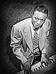 NAT KING COLE Jazz Legend pianist Piano Musician by StoneyPrints