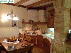 Cucina in Muratura in Legno Massello di Pino | Contado Roberto ...