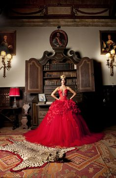 Red Dress Bride Emiliano for Dina Bengasi Atelier