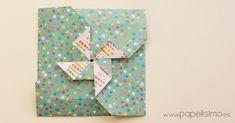 Una tarjeta de regalo muy fácil y rápida de hacer, sólo necesitas 1 hoja de papel y 3 minutos para doblarla. No necesita pegamento, tijeras ni nada más. Seguro que tienes a mano algún papel para probar y aprender a hacer la tarjeta de cumpleaños más fácil del mundo con un molinillo...