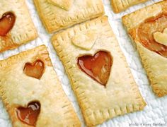 Homemade Valentine's poptarts for when we wake up - cute!