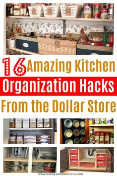 16 AMAZING Kitchen Organization Hacks from the Dollar Store. Tips tricks and inspiration to inexpensively organize YOUR ENTIRE KITCHEN.  The refrigerator, pantry, under the sink and kitchen cabinets.  Budget friendly and beautiful.  I have to try these - Lifechanging!  #organization #kitchen #hacks #tipsandtricks #kitchenorganization #home #homedecor #inspiration