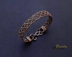 Men copper braceletMens braceletMen braided   Etsy