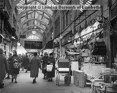 Market Row shopping arcade, off Electric Lane, Brixton 1966 South London, London Life, London Street, Vintage London, Old London, Brixton Market, Time Pictures, London History, Architecture Old