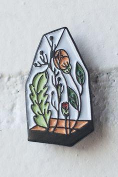 Greenhouse lapel pin