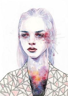 watercolors & white gel pen #art #watercolors #watercolor #painting…