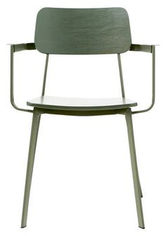 Ace Armchair - Metal & wood Khaki green by House Doctor