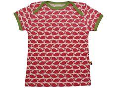 T-Shirt mit Walen in rosenrot von loud + proud