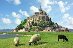 Klasztor Mont Saint Michel, Francja
