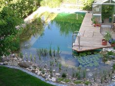 Modern Natural Swimming Pools That Will Delight You - Piscina de Pedra - Swimming Pool Pond, Natural Swimming Ponds, Natural Pond, Swimming Pool Designs, Outdoor Pool, Outdoor Gardens, Ponds Backyard, Garden Ponds, Backyard Ideas