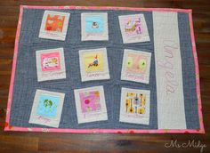 Quilted Heather Ross Placemat by Ms Midge, via Flickr