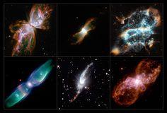 Bizarre alignment of planetary nebulae | ESA/Hubble