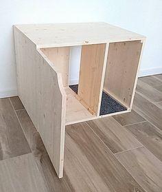 Cat Litter Box Cover, Pet Furniture, Cat House, Modern Litter Box Cabinet made of spruce wood - Katze Wurf Box Cover Haustier Möbel Katzenhaus moderne Wurf Katze Wurf Box Cover Haustier Möbel K -